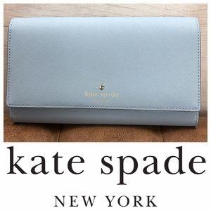 Kate spade baby blue clutch